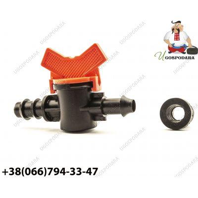 Кран стартовый с резинкой для слепой трубки d 16 мм (Китай)