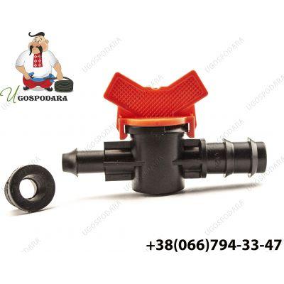 Кран стартовый с резинкой для слепой трубки d 20 мм (Китай)