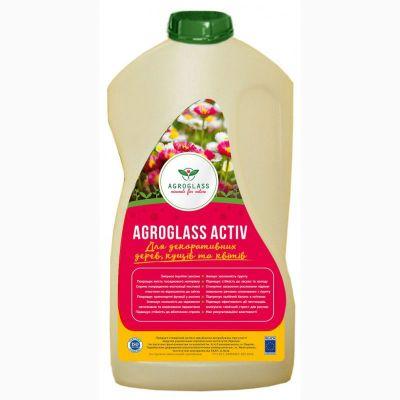 Удобрение органическое Кремний-Калий AGROGLASS ACTIV для декоративных культур (0,5 л)