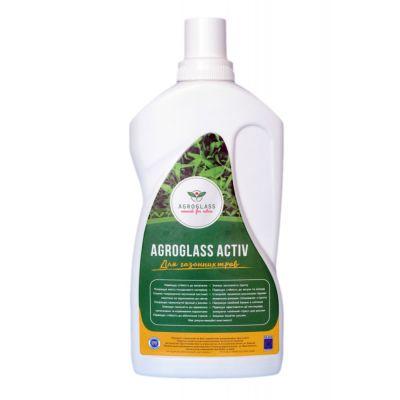 Удобрение органическое Кремний-Калий AGROGLASS ACTIV для газонной травы (0,5 л)
