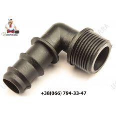 """Колено для трубки d 20 мм с НР 3/4"""" Китай"""