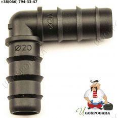 Колено соединительное для трубки d 20 мм Китай